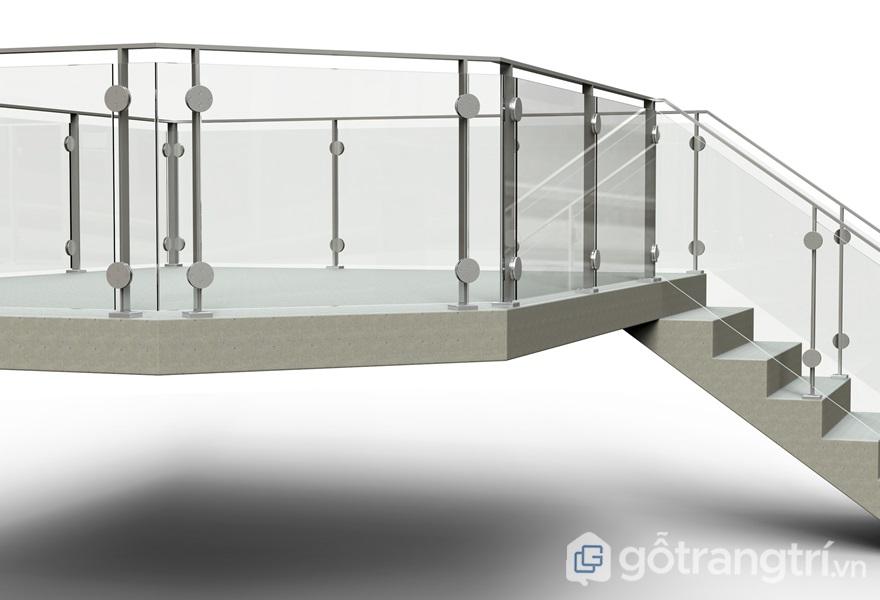 Kính làm lan can cầu thang - ảnh internet