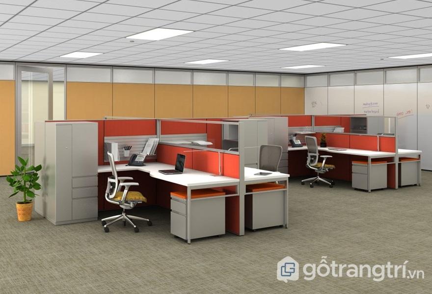 Bàn văn phòng bằng gỗ mdf - ảnh internet