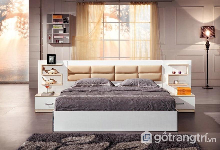 Giường ngủ bằng gỗ mdf - ảnh internet