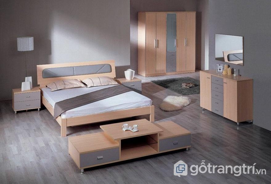 Nội thất gỗ mdf trong phòng ngủ - ảnh internet