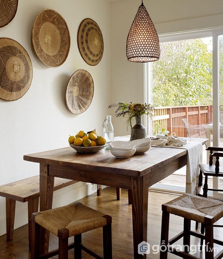 Phong cách nội thất eco chuyên sử dụng vật liệu tự nhiên trang trí (Ảnh: Internet)