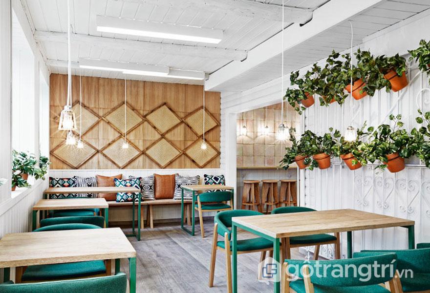 Phong cách Eco nổi bât với nguyên liệu gỗ trong bài trí nội thất (Ảnh: Internet)
