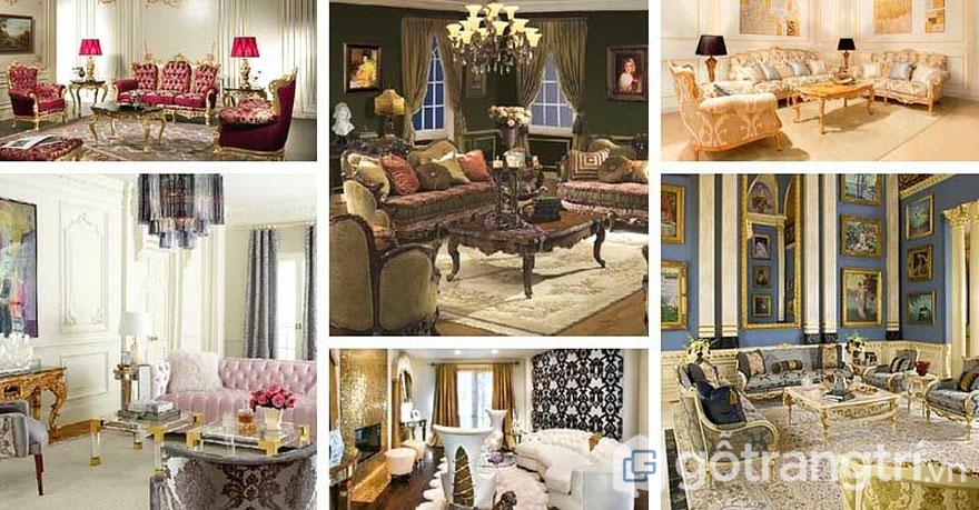 Không gian nội thất được bài trí theo phong cách Ba rốc không thể thiếu đi những họa tiết tỉ mỉ mang đến không gian sống choáng ngợp (Ảnh: Internet)
