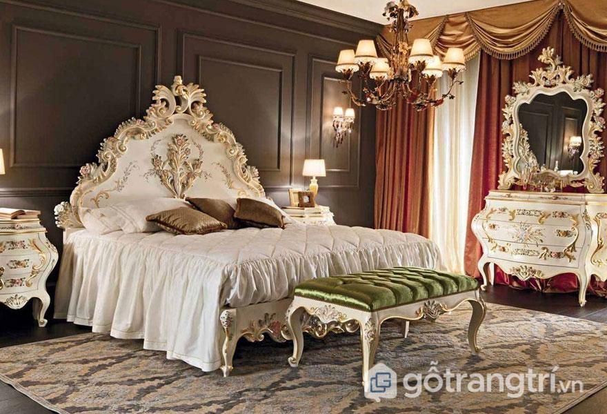 Phòng ngủ độc đáo với họa tiết hoa văn tinh xảo (Ảnh: Internet)