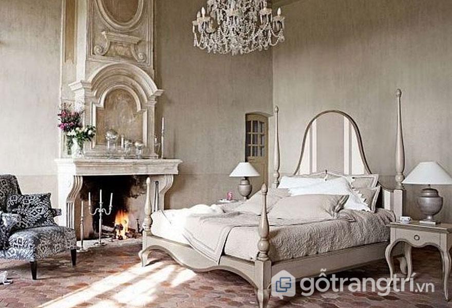 Phòng ngủ với nội thất bằng da (Ảnh: Internet)