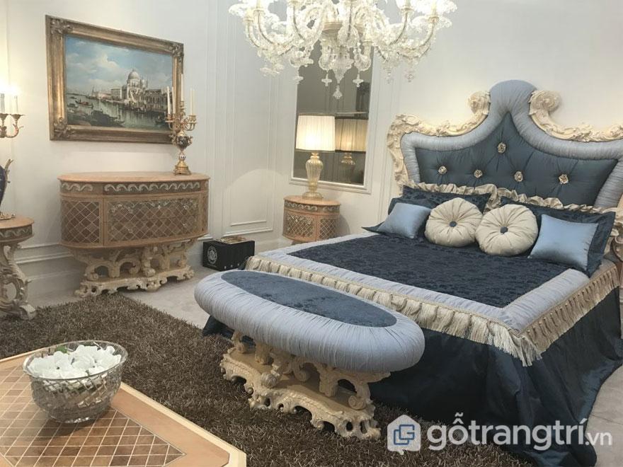 Phòng ngủ nổi bật với gam màu trung tính (Ảnh: Internet)