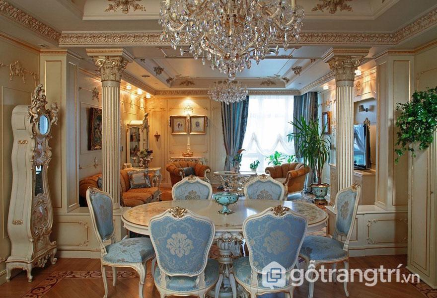 Ứng dụng phong cách baroque trong thiết kế nội thất nhà ở như thế nào? (Ảnh: Internet)