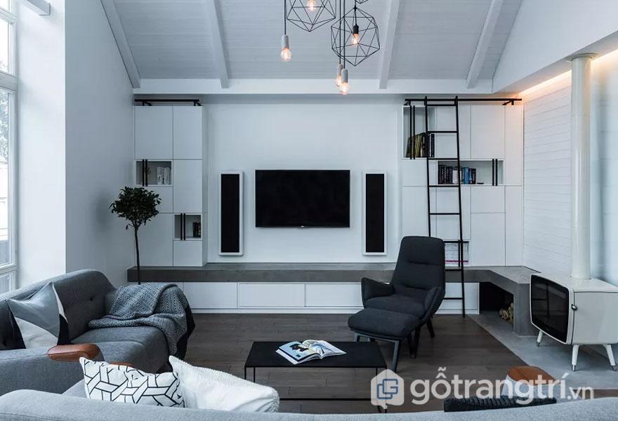 Phô diễn nét đẹp thiết kế nội thất phong cách hitech cho nhà ở hiện nay (Ảnh: Internet)