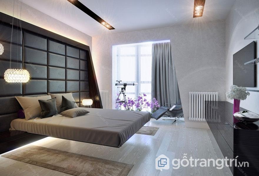 Phong cách nội thất hitech cho phòng ngủ hiện đại, tinh tế (Ảnh: Internet)