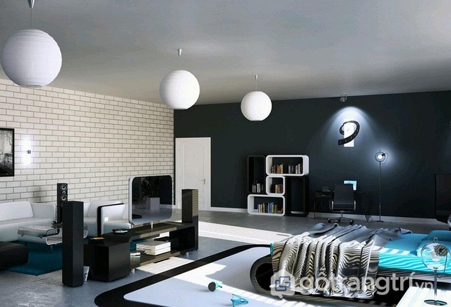 Đồ nội thất phòng ngủ được bài trí khá chỉ chu, giản đơn nhưng tinh tế (Ảnh: Internet)