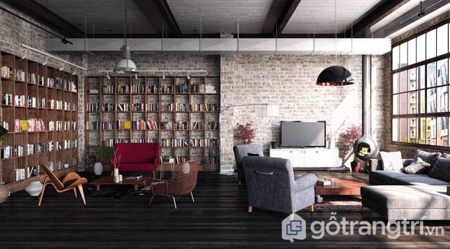 Phong cách nội thất loft là gì? Những đặc trưng cơ bản của phong cách loft (Ảnh: Internet)