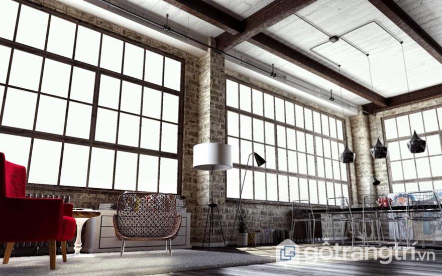 Phong cách loft luôn sử dụng và hướng đến màu đơn sắc (Ảnh: Internet)