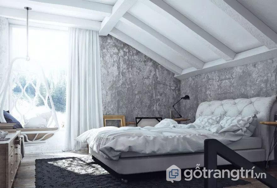 Phòng ngủ được trang trí hết sức nhẹ nhàng (Ảnh: Internet)