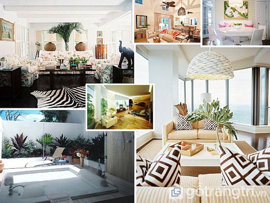 Phong cách nội thất tropical cho phòng ngủ (Ảnh: Internet)