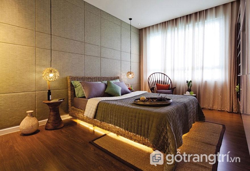Giường ngủ được làm từ mây tre đan (Ảnh: Internet)