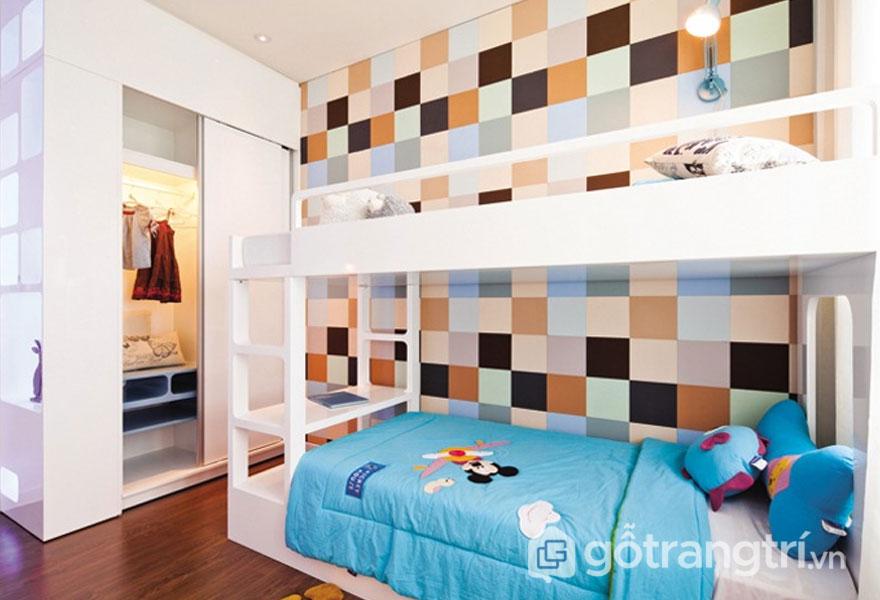 Phòng ngủ trẻ em với nhiều sắc màu (Ảnh: Internet)