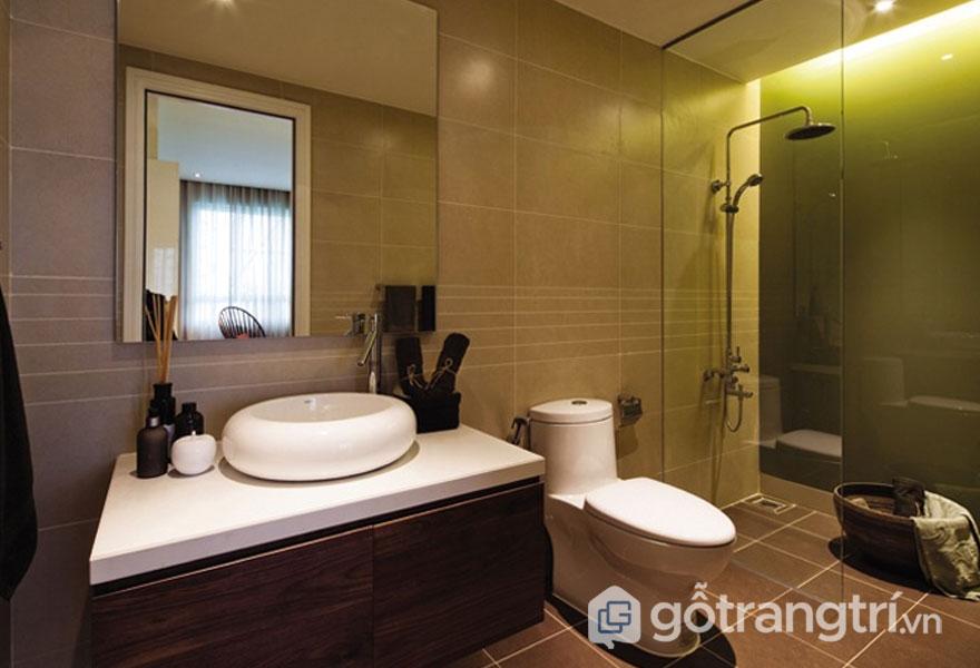 Phòng tắm được bài trí theo phong cách tropical trong thiết kế nội thất (Ảnh: Internet)