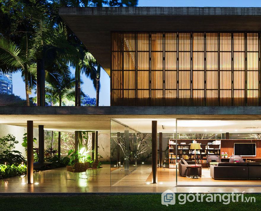 Đưa phong cách tropical trong thiết kế nội thất cho biệt thự (Ảnh: Internet)