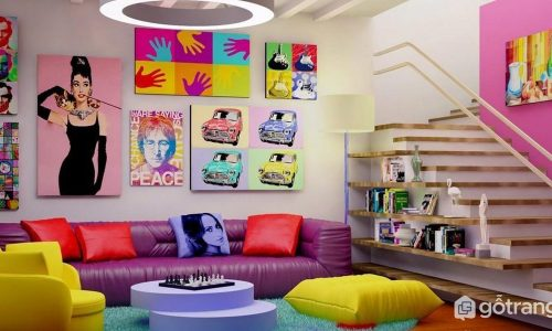 Khám phá sự táo bạo của phong cách Pop Art trong thiết kế nội thất