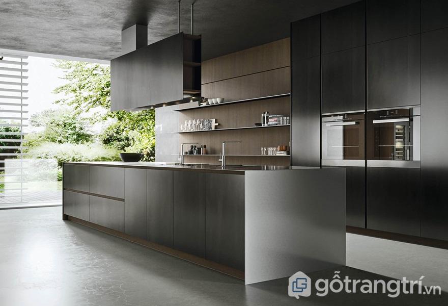 Căn bếp được thiết kế đơn giản và tiện nghi - ảnh internet