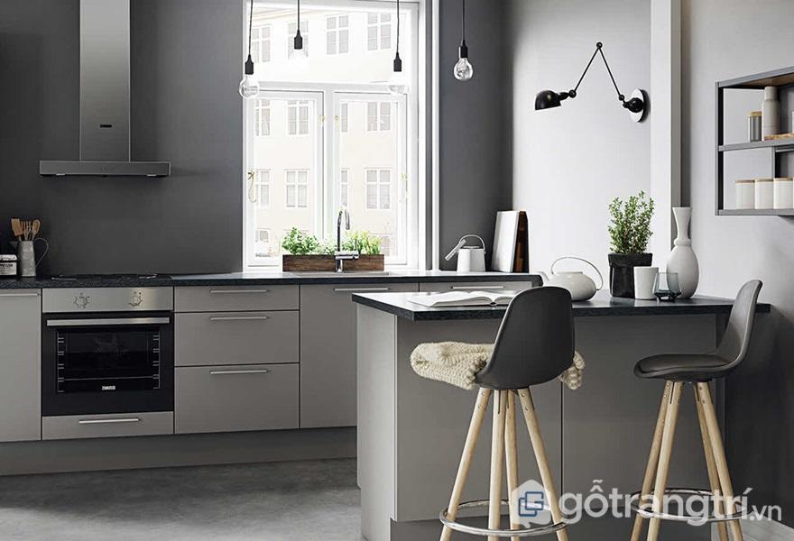 Tủ bếp làm từ thép không gỉ mang phong cách đơn giản - ảnh internet