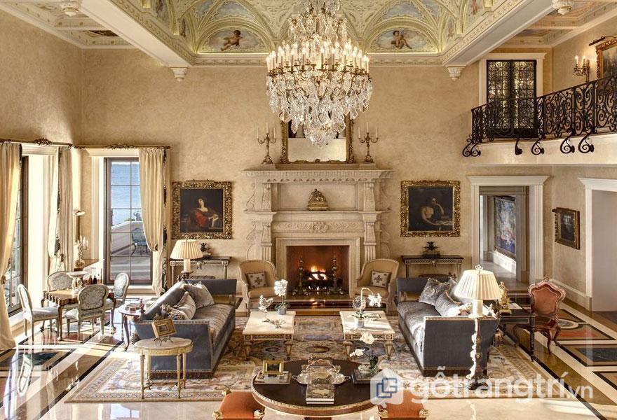 Trang trí trần nhà Baroque (Ảnh: Internet)