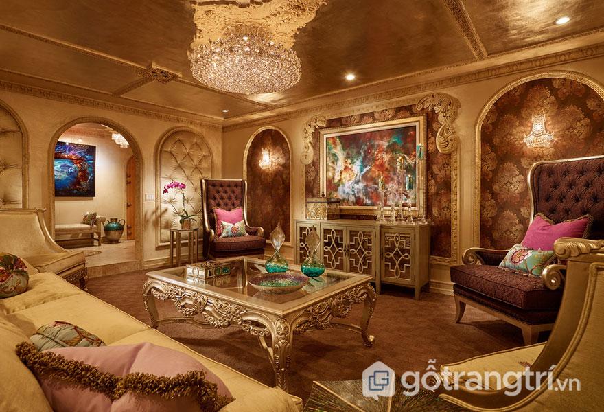 Sàn nhà được thiết kế đồng màu với đồ nội thất (Ảnh: Internet)