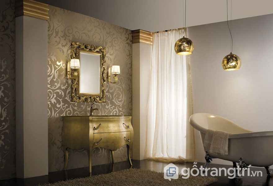 Thiết kế nội thất phong cách baroque dành cho những ai yêu thích nét đẹp sang trọng (Ảnh: Internet)