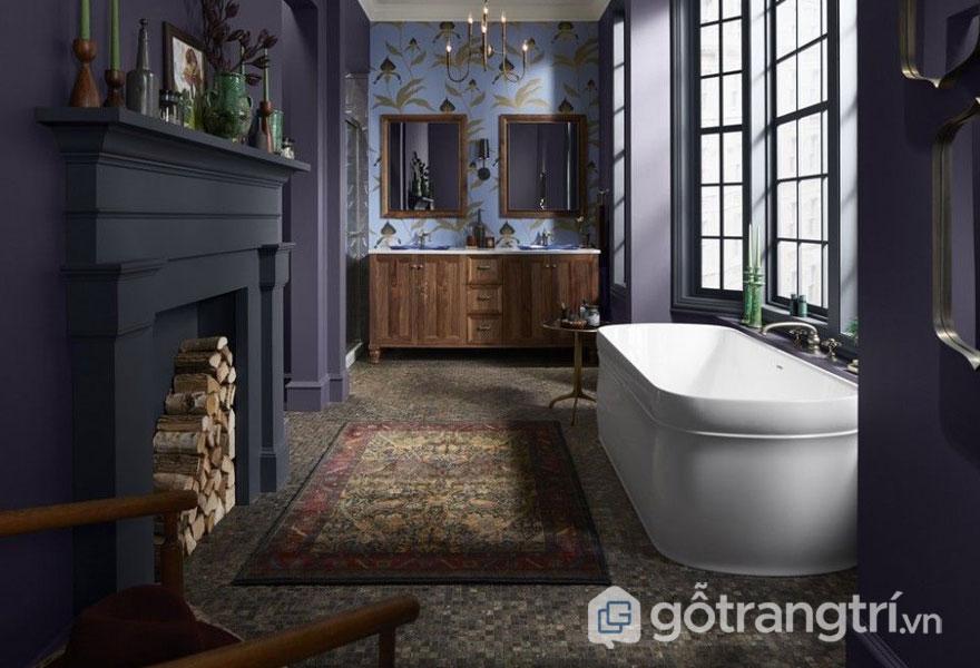 Phòng tắm sử dụng những gam màu trung tính (Ảnh: Internet)