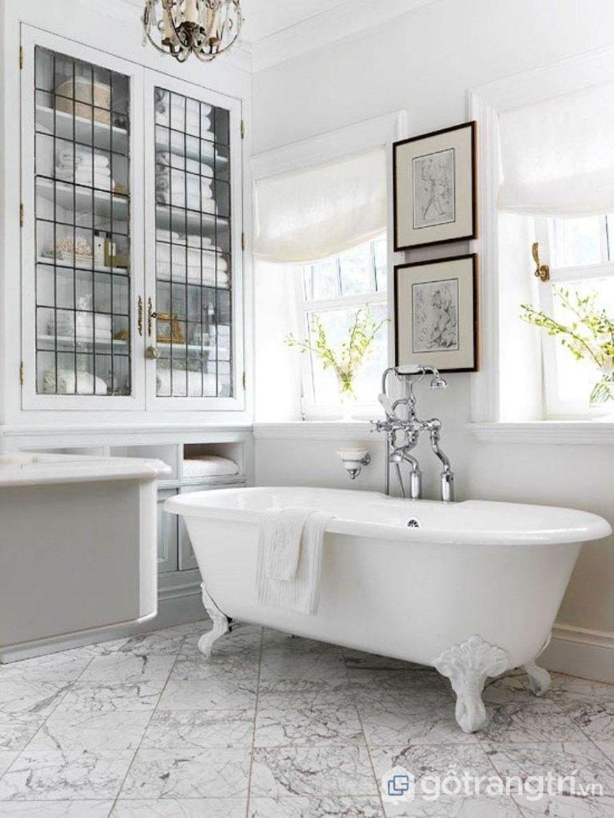 Sử dụng tông màu trắng làm căn phòng trở lên trong trẻo hơn (Ảnh: Internet)