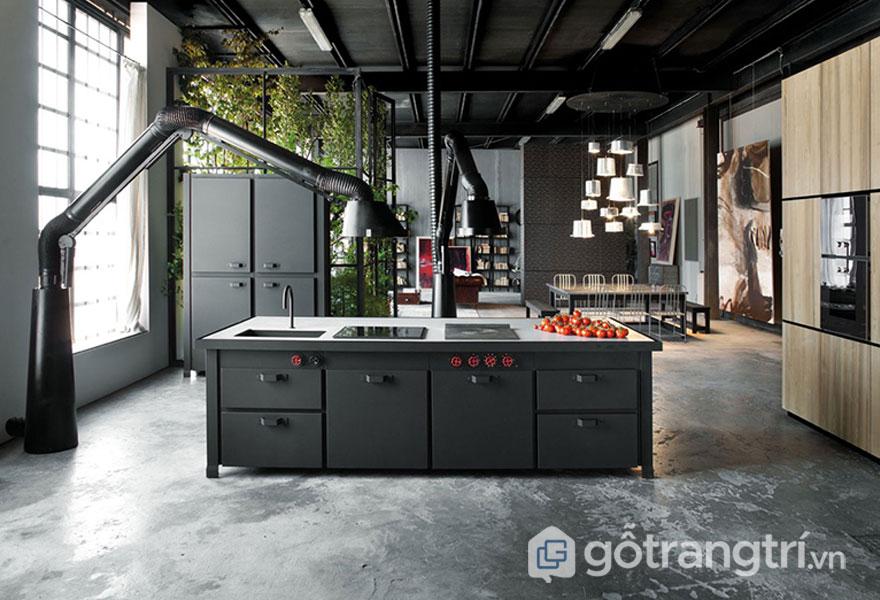 Phòng ăn phong cách loft (Ảnh: Internet)