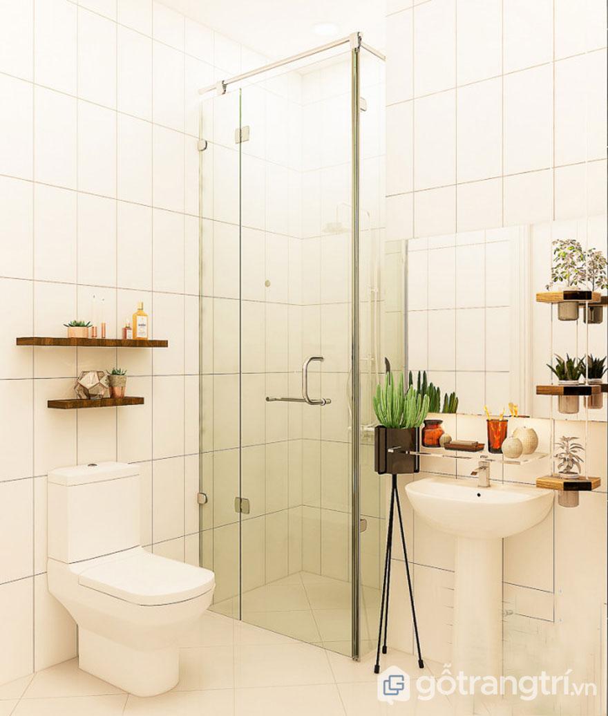 Phòng tắm được bài trí vô cùng gọn gàng (Ảnh: Internet)