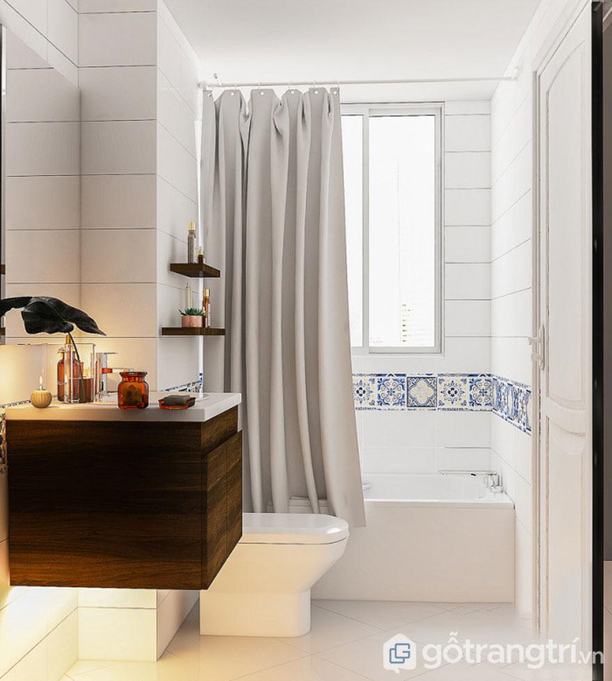 Thiết kế bồn tắm tại cửa sổ mang đến sự thư giãn cho căn phòng (Ảnh: Internet)