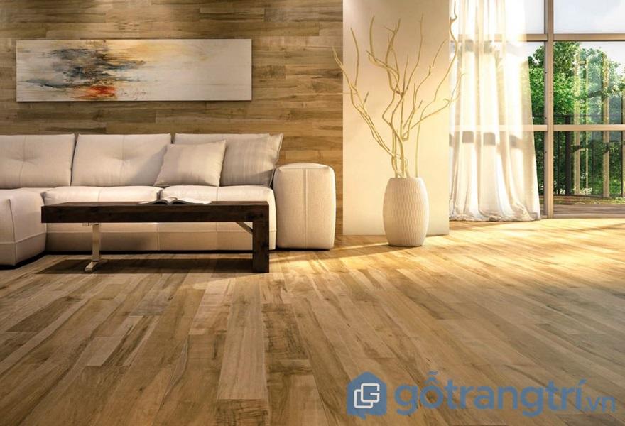 Sàn nhà gỗ công nghiệp - ảnh internet