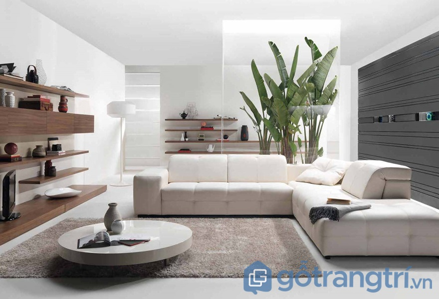 Ứng dụng ván ép công nghiệp trong thiết kế không gian phòng khách - ảnh internet