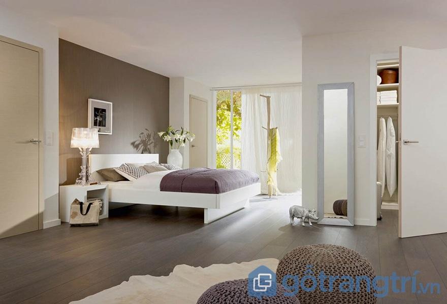 Ứng dụng ván ép công nghiệp trong thiết kế không gian phòng ngủ - ảnh internet
