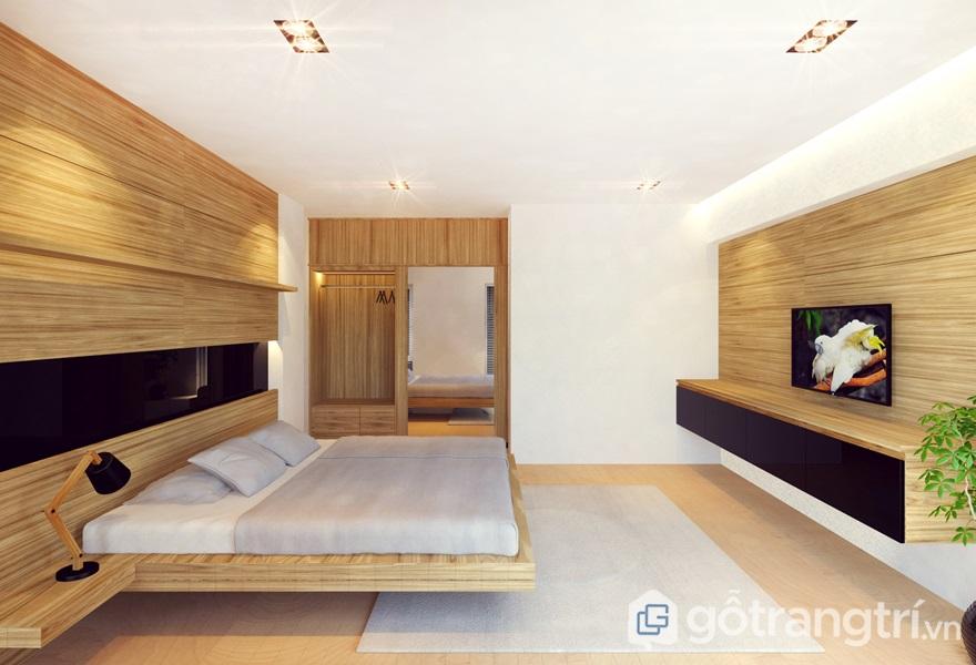 Phòng ngủ bằng gỗ công nghiệp - ảnh internet
