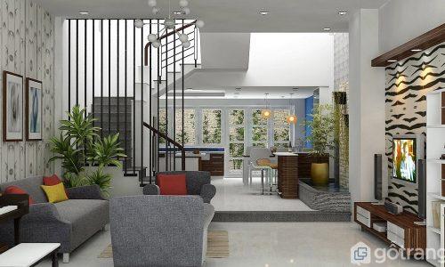 Mê mẩn trước 10 mẫu thiết kế phòng khách đẹp hiện đại diện tích dưới 50m2