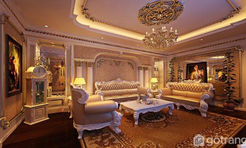 Mê mẩn trước 15+ mẫu phòng khách đẹp theo phong cách tân cổ điển