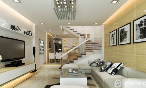 Tổng hợp mẫu thiết kế phòng khách có cầu thang không thể bỏ qua