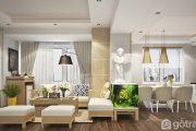 Gây sốt với 10+ mẫu thiết kế phòng khách chung cư dưới 70m2