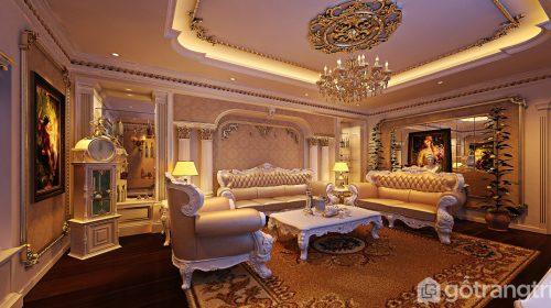 Tìm hiểu về phong cách tân cổ điển và BST phòng khách biệt thự tân cổ điển hút ánh nhìn