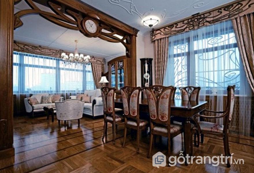 Tính năng phong cách Art Nouveau trang trí đồ nội thất (Ảnh: Internet)
