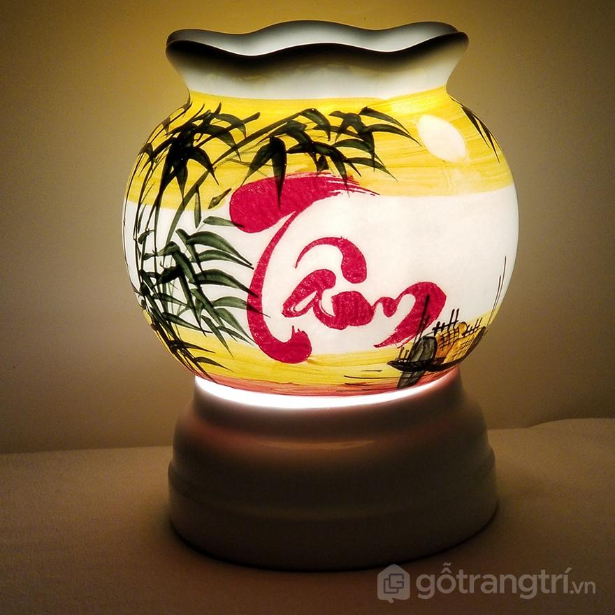 đèn xông tinh dầu bằng gốm để bàn