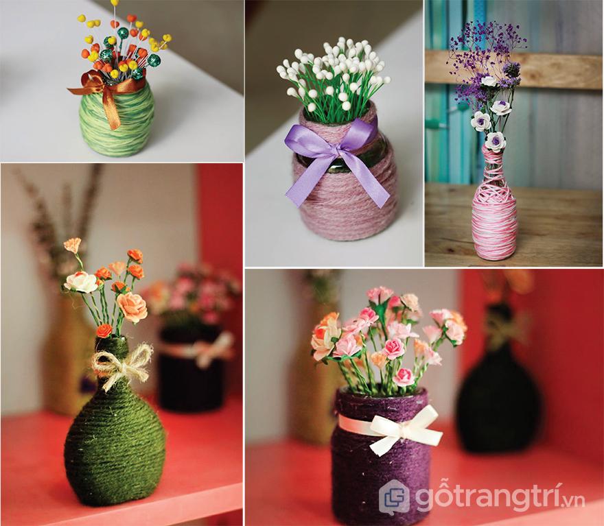 đồ handmade trang trí bàn làm việc - lọ hoa