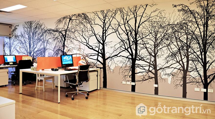 Giấy dán tường trang trí văn phòng cao cấp