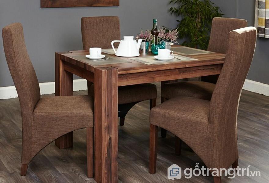 Bộ bàn ăn gỗ óc chó - ảnh internet