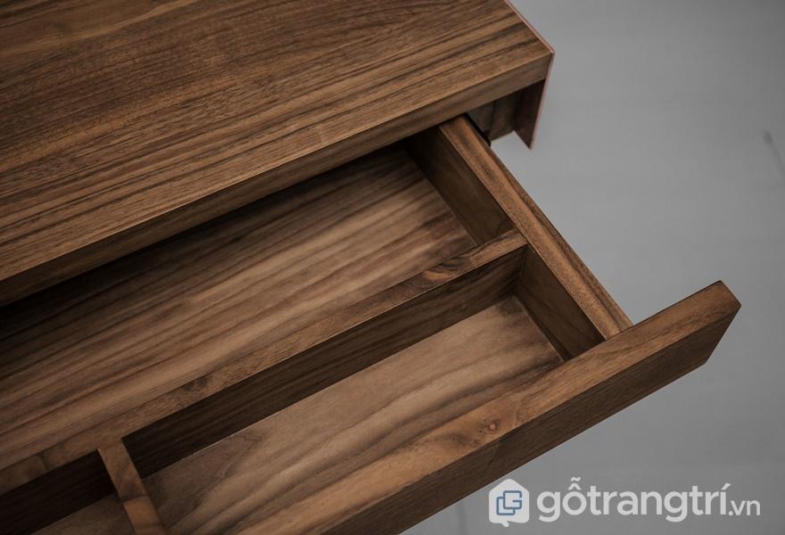 Ứng dung gỗ óc chó trong thiết kế nội thất - ảnh internet