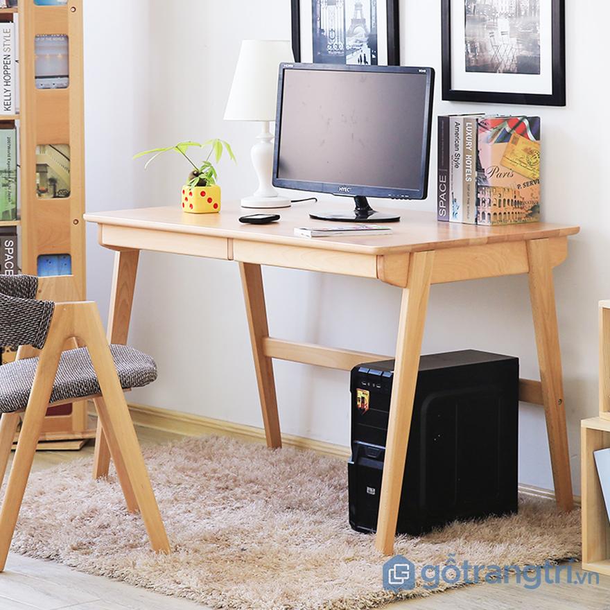 bàn ghế bằng gỗ trang trí văn phòng