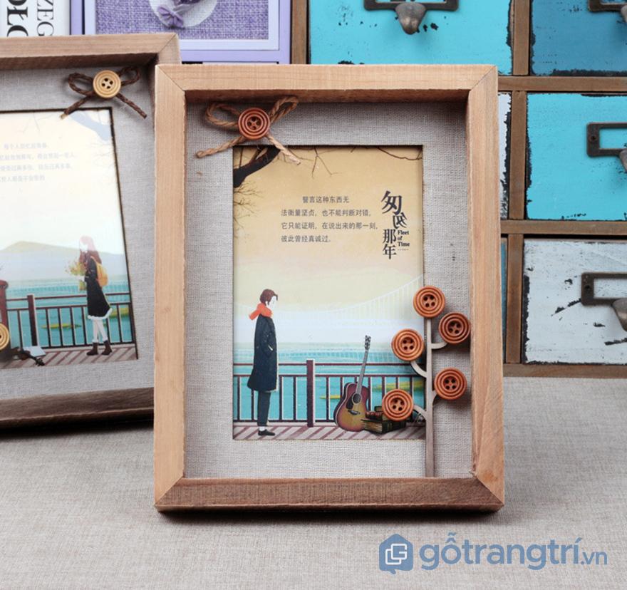 khung ảnh gỗ trang trí bàn làm việc